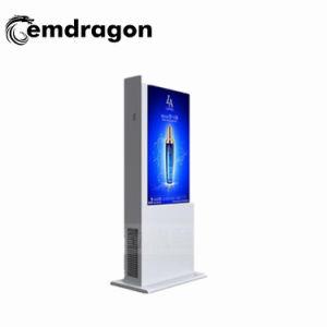선수를 광고하는 1개의 PC 미디어 플레이어 지면에서 모두 선수 LCD 디지털 Signage를 광고하는 55 인치 접촉 PC 은행