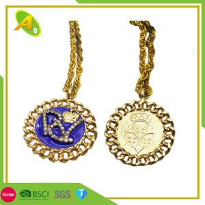 0be680fc424e Bisutería Custom chorreo de arena de oro medalla de metal con esmalte (130)