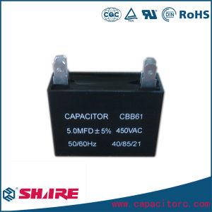 Cbb61 AC Motor die de Vierkante Condensator van de Plafondventilator van de Condensator van het Type Telegraferen