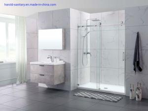 Em linha reta deslizante único gabinete de chuveiro com cabeçalho quadrado via