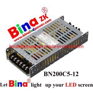 5V40A 200W Fonte de Alimentação fina para um único ou duplo ecrã LED de cor ou exibir ou cartazes