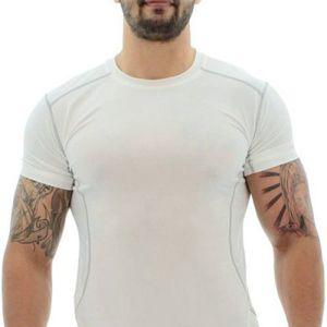 100%年のポリエステル人のコアによって合われる短い袖の上