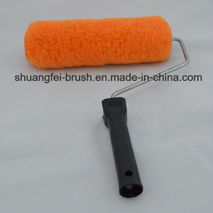 Rullo di vernice poco costoso del poliestere con la maniglia di plastica