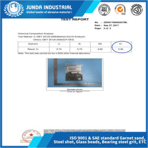 Bleu/noir/brun/Chine usine Grit en acier pour le grenaillage de précontrainte
