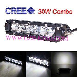 7.9inch Slim CREE 30W Single Row LED Light Bars