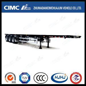 52FT 3axle Skeleton Container Semi Trailer ohne Twist Lock