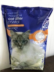 Weiße Katze-Sänfte Silikagel-Katze-Sänfte-Weiß+3% blaue des Irregular-1-8mm