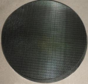 80의 메시 까만 철사 피복 필터 디스크 또는 스테인리스 압출기 망사형 화면 또는 낮은 탄소 필터 디스크