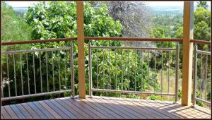 De Balustrade van het roestvrij staal, Montage de Van uitstekende kwaliteit van de Balustrade voor OpenluchtDecking