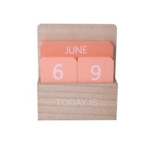 Calendário de madeira coloridos para decoração de Desktop