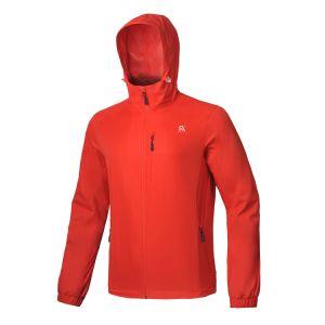 Мужчин водонепроницаемый ТЕБЯ ОТ ВЕТРА Breatable Куртка с удлиненной худи ветровку легкая одежда Дождевик с сетчатая подкладка