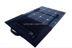 Portable 100W 18V 12V Cargador de Manta Solar Panel plegado