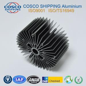 Het hoge Profiel van het Aluminium van het Eind voor Heatsink met het Anodiseren en het Machinaal bewerken