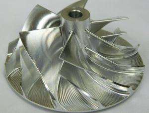 Cnc-Prägealuminiumhydraulikturbine-Platte Blisk für kleine Gasturbine