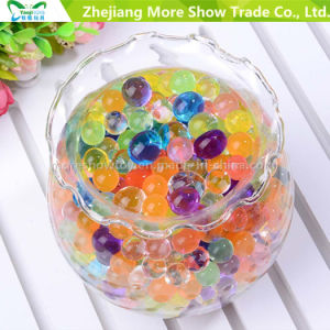 Suelo de cristal perlas Perlas de agua de la boda de llenado de jarrón central