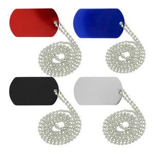 Barata de aluminio anodizado de aluminio de colores mezclados Dog Tag Necklace