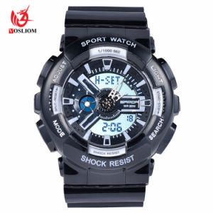 Los hombres de ocio de la moda y el Movimiento de cuarzo Reloj digital multifunción reloj deportivo al aire libre de plástico -V136
