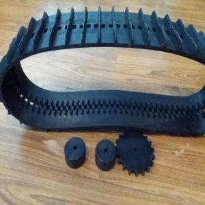 Robô pequeno rasto de borracha (130*18.5*76) com conjuntos completos de Rodas Dentadas