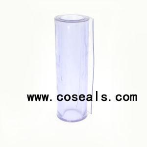 透過柔らかい淡いブルーのプラスチックPVCシート