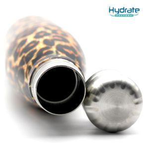 Impresión de leopardo Botella de agua de doble pared