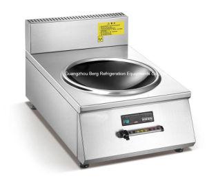 Fornello commerciale del Wok di induzione di alta efficienza 8000W di buona qualità