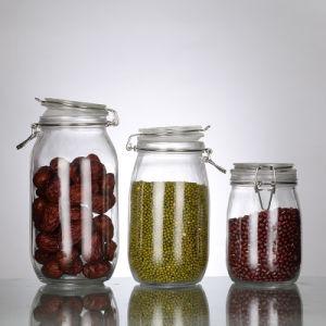 500ml-1500ml récipient en verre clair avec étanche