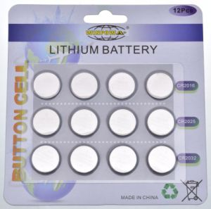 3V Batterij van de Cel van de Knoop van de Auto van het lithium de Zeer belangrijke (CR2032/CR2025/CR2016)