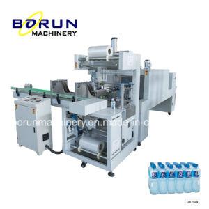 Máquina de embalagem de cintagem automática de filme para garrafas de água