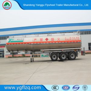 Vliegwiel 3 Semi Aanhangwagen van de Tank van de Olie van de Aanhangwagen van de Tank van de Brandstof van de Legering van het Aluminium van de As de Semi