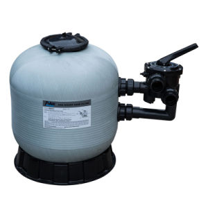 Resina de fibra de Gery Piscina Piscina de Areia Filtro com Válvula de Montagem Superior Preta