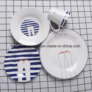 L'ouest de la vaisselle en porcelaine de conception du client définie pour l'hôtel