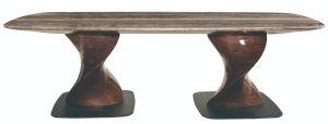 8 plazas, mesa de comedor de mármol naturales especiales