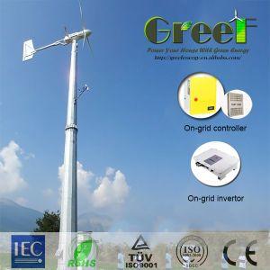 sistema di generatore orizzontale del vento di asse 1kw con il regolatore e l'invertitore