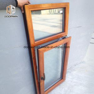 Revestido de aluminio de madera de roble gire a la inclinación de la ventana