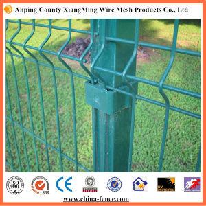 Revestido de color verde/amarillo de la malla de seguridad valla valla de seguridad cerca de 3D