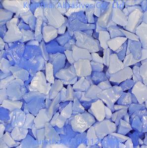 Il grano abrasivo di ceramica della granulosità del corindone blu per legato/ha ricoperto l'abrasivo