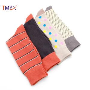 Разнообразные цвета мужчин из жаккардовой ткани носки хлопок экипажа носки логотип