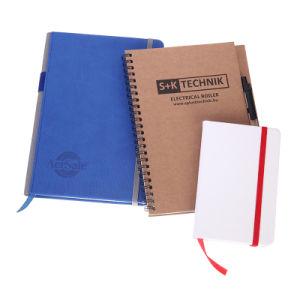 Cuero PU personalizada Libro de Ejercicios de proveedor de la escuela A5 B5 A6 Bloc de notas diario