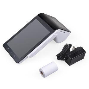 Android 3G 4G GPRS GSM Dual-Screen Wi-Fi NFC Barcode Scanner 100mm POS intelligente de la borne d'imprimante thermique