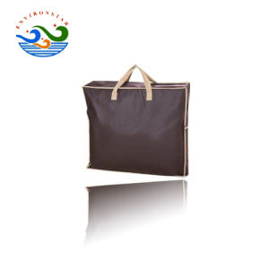 Acheter Heavy Duty promotionnel logo imprimé tissu non tissé Spunbond en PP naturel des sacs fourre-tout avec fermeture à glissière