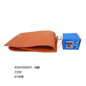 Tambor de borracha de silicone Anti-Cold industriais de aquecimento do aquecedor de banda