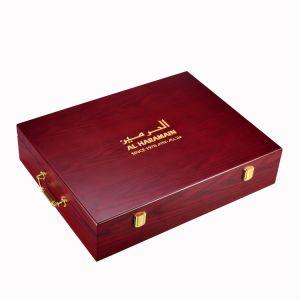 Fraxinus Mandshurica té de embalaje de madera Mostrar caja para regalo Perfume Caja Joyero