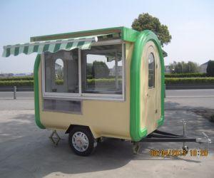Le centre commercial rapide personnalisé commode de distributeurs automatiques de la crème glacée électrique coffre mobile des boissons froides de la rue un fonctionnement facile Cuisine barbecue Shop Mobile remorque de camion alimentaire