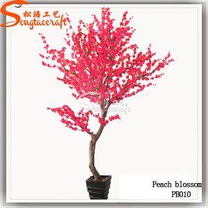 Bom imitações de árvore de flores de pêssego Artificial