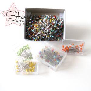 結婚式のためのさびない38mm多彩なプラスチックガラス真珠ヘッドピン