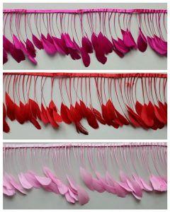 Penas coloridas de alta qualidade para o cadarço de franja de decoração