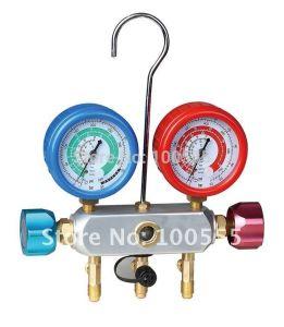 Customlized Colector de 2 válvulas Manómetros de presión de refrigerante R134A, R410A PR1010