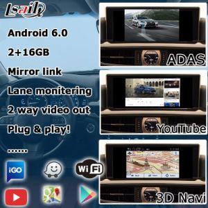 Système de navigation GPS Lsailt Android boîte pour Lexus Lx570 2016 12,3 pouces Boîte d'interface vidéo