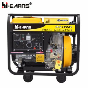 5kw 놓이는 휴대용 디젤 엔진 발전기 (DG6000E)