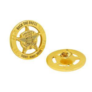 Distintivo del tasto personalizzato ricordo all'ingrosso di Pin di metallo del fiore